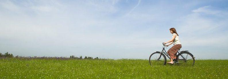 Meditieren können Sie auch beim Radeln